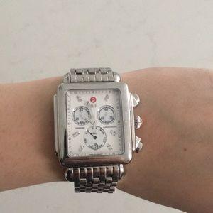 MICHELE DECO XL Diamant Cadran Chronographe watch